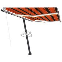 vidaXL Tenda Automatica Sensore Vento e LED 300x250 cm Arancio Marrone