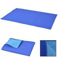 vidaXL Coperta da Picnic Blu e Celeste 150x200 cm