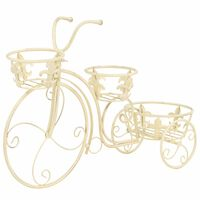 vidaXL Piedistallo per Piante a Forma di Bici in Stile Vintage Metallo