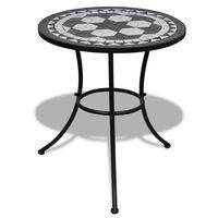 vidaXL Tavolo da Bistrot Nero e Bianco 60 cm a Mosaico