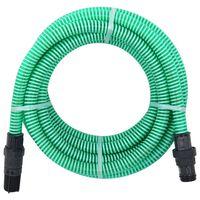 vidaXL Tubo di Aspirazione con Connettori in PVC 10 m 22 mm Verde
