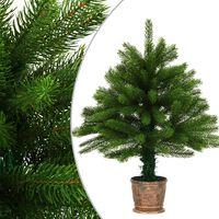 vidaXL Albero di Natale Artificiale con Aghi Realistici 65 cm Verde