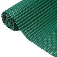 Nature Recinzione da Giardino a Lato Singolo in PVC 1x3 m Verde