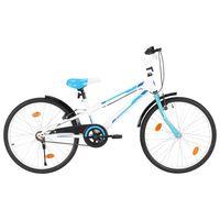 vidaXL Bici per Bambini 24 Pollici Blu e Bianca