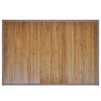Tappeto da bagno in Bamboo 60 x 90 cm Marrone