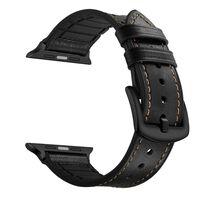 Braccialetto Apple Watch 38 mm in pelle / silicone - nero