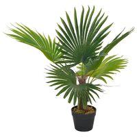 vidaXL Palma Artificiale con Vaso Verde 70 cm