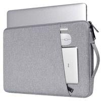Custodia per laptop in tela da 14,1 pollici - grigia