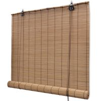 Tapparella Avvolgibile Bambù Marrone 100 x 160 cm