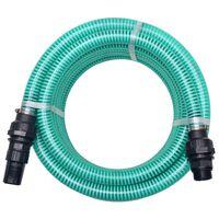 vidaXL Tubo di Aspirazione con Connettori 10 m 22 mm Verde