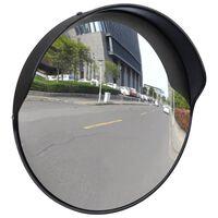 vidaXL Specchio Traffico Convesso Nero Plastica PC per Esterni 30 cm