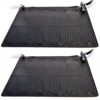 Intex Tappeti Solari Termici 2 pz PVC 1,2x1,2 m Nero 28685