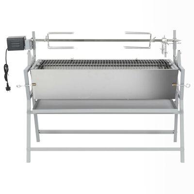 Barbecue Girarrosto in Ferro ed Acciaio Inossidabile