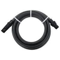 vidaXL Tubo di Aspirazione con Connettori in PVC 10m 22 mm Nero