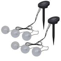 vidaXL Lampade LED Galleggianti 6 pz per Stagno e Piscina