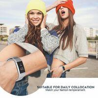 Braccialetto Fitbit Charge 2 in nylon - grigio / bianco