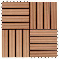 vidaXL Piastrelle per Decking in WPC 11 pz 30x30cm 1mq Colore Teak
