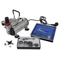 vidaXL Set Compressore Aerografo con 2 Pistole