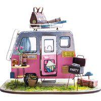 Robotime Kit in Miniatura Fai da Te Auto Happy Camper