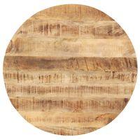 vidaXL Piano Tavolo in Legno Massello di Mango Rotondo 25-27 mm 40 cm