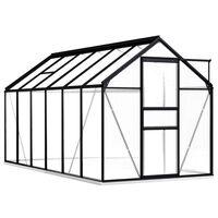 vidaXL Serra con Telaio Base in Alluminio Antracite 7,03 m²