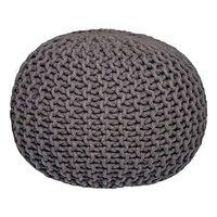 LABEL51 Pouf a Maglia in Cotone M Grigio Scuro