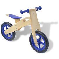 vidaXL Bicicletta senza Pedali in Legno Blu