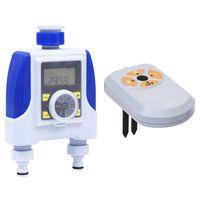 vidaXL Timer Elettronico Irrigazione a Doppia Uscita Sensore Umidità
