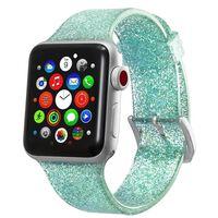 Bracciale Apple Watch 42 mm - Verde turchese glitterato