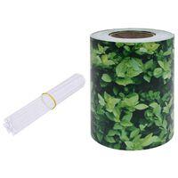 vidaXL Recinzione Frangivento da Giardino PVC 70x0,19 m Verde