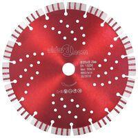 vidaXL Disco da Taglio Diamantato con Turbo e Fori in Acciaio 230 mm