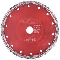 vidaXL Disco da Taglio Diamantato con Fori in Acciaio 230 mm