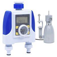 vidaXL Timer Elettronico Irrigazione a Doppia Uscita Sensore Pioggia