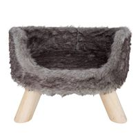 """DISTRICT70 Plush Cat Bed """"NORDIC"""" Silver"""