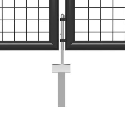 vidaXL Cancello per Giardino in Acciaio 400x100cm Antracite