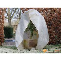 Nature Telo Antigelo con Zip 70 g/m² Beige 2x1,5x1,5 m