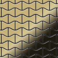 Alloy Kismet-bm Mosaico Metallo Solido Ottone Oro
