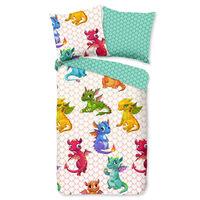 Good Morning Copripiumino per Bambini DRAGONS 135x200 cm Multicolore