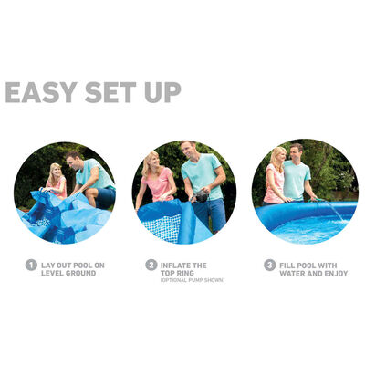 Intex Piscina Easy Set con Sistema di Filtro 457x84 cm