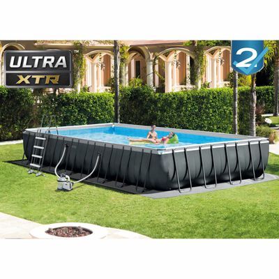 Intex Set Piscina Ultra XTR Frame Rettangolare 975x488x132 cm