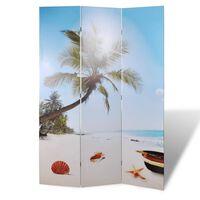 vidaXL Paravento Pieghevole 200x170 cm con Stampa Spiaggia