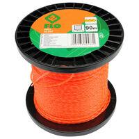 FLO Filo Tagliaerba Silent 2 mm 90 m Arancione