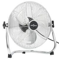 vidaXL Ventilatore da Pavimento a 3 Velocità 40 cm 40 W Cromato
