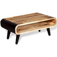 vidaXL Tavolino da Caffè in Legno Grezzo di Mango 90x55x39 cm