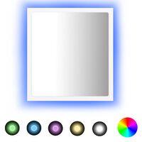 vidaXL Specchio da Bagno LED Bianco 40x8,5x37 cm in Truciolato
