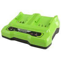 Greenworks Caricabatterie a Doppio Slot 24 V 4 A