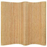 vidaXL Pannello Divisore per la Stanza in Bambù Naturale 250x165 cm