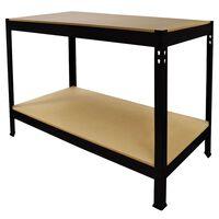 Tavolo da Lavoro Nero Q-Rax Senza Bulloni in Acciaio 90x120x60cm
