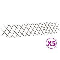 vidaXL Recinzione a Traliccio in Salice 5 pz 180x30 cm