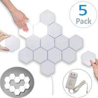 Applique LED esagonale con touch - 5 pz